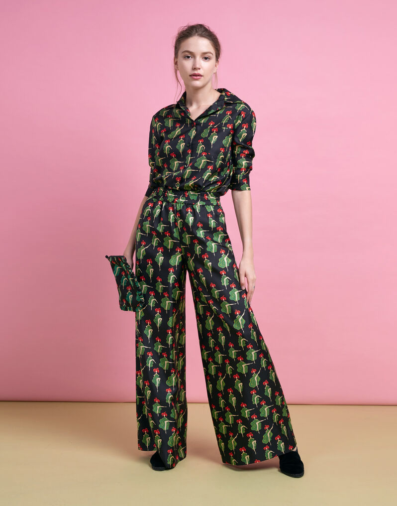 Palazzo Pants - Can Can in Silk