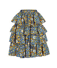 Big Mama Skirt - Confetti Blu in Cotton