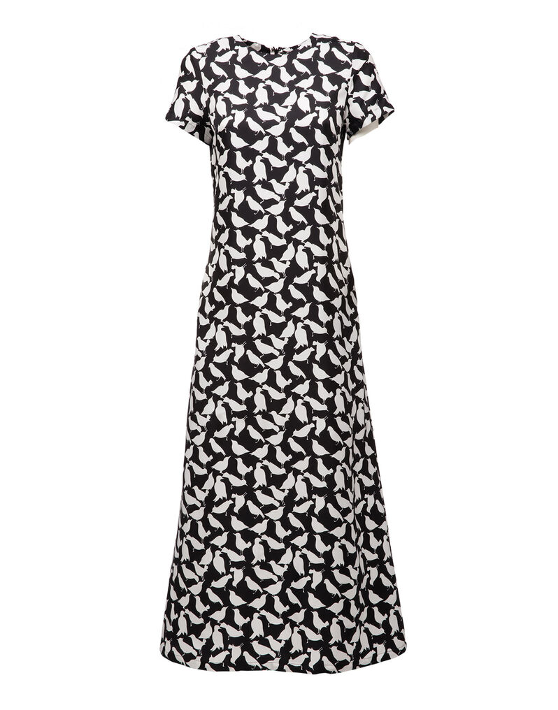 Uccellini Bianchi Swing Dress