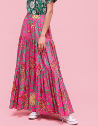 Big Skirt - Dragon Flower Fucsia in Cotton