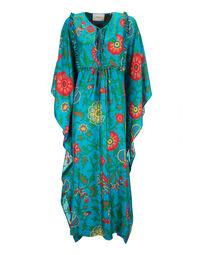 Talitha Kaftan - Dragon Flower Turchese in Silk