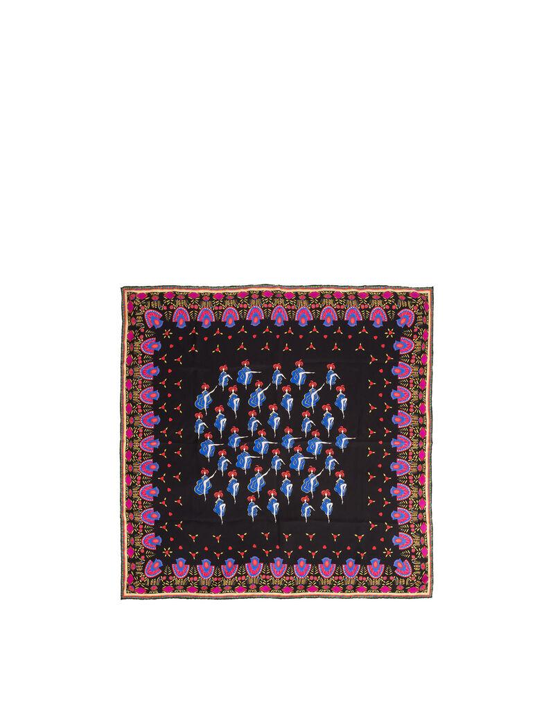 Can Can Blu Scarf (90x90 cm)