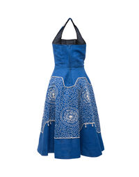 Embroidered sundress 1950s, size 40