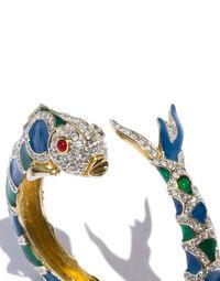 Kenneth Jay Lane pisces bracelet, 2000s