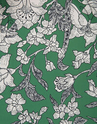Trapezio Dress in Lilium Verde