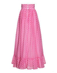 Pink cotton polka-dotted skirt, 1970s