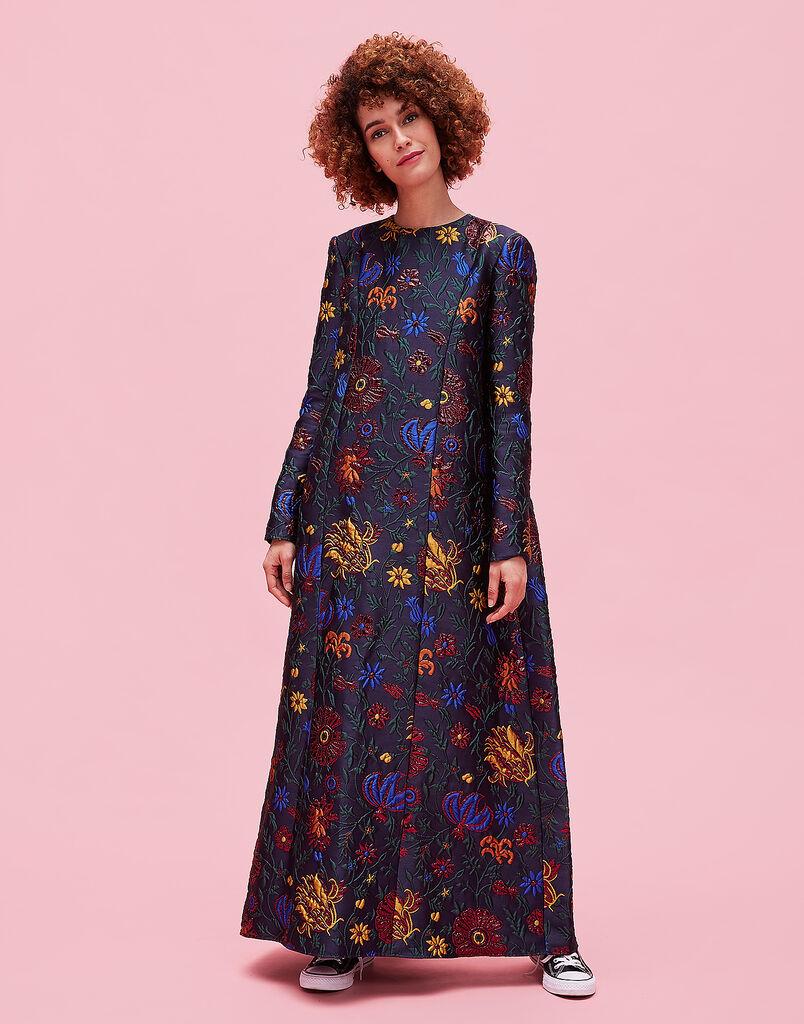 Dragon Flower Lurex Trapezio Dress