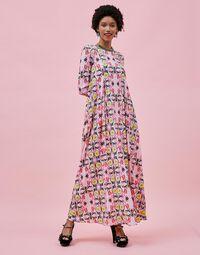 Trapezio Dress in Stella Alpina Rosa