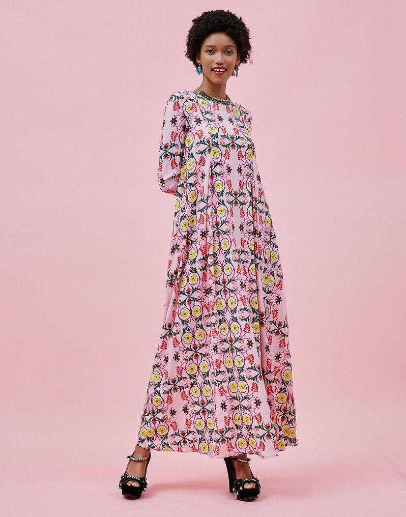Trapezio Dress - Stella Alpina Rosa in Sablè
