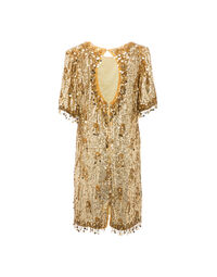 Gold sequin dress 1970s, size 42-44