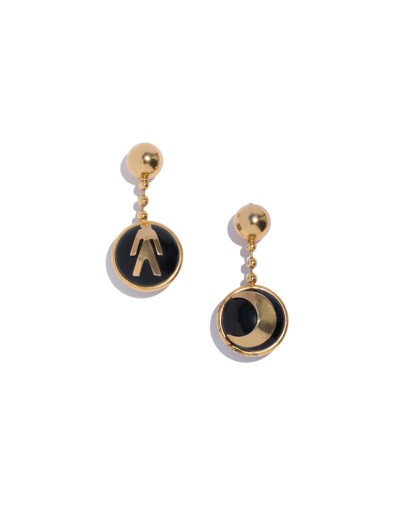 Moschino pendant earrings, 1980s