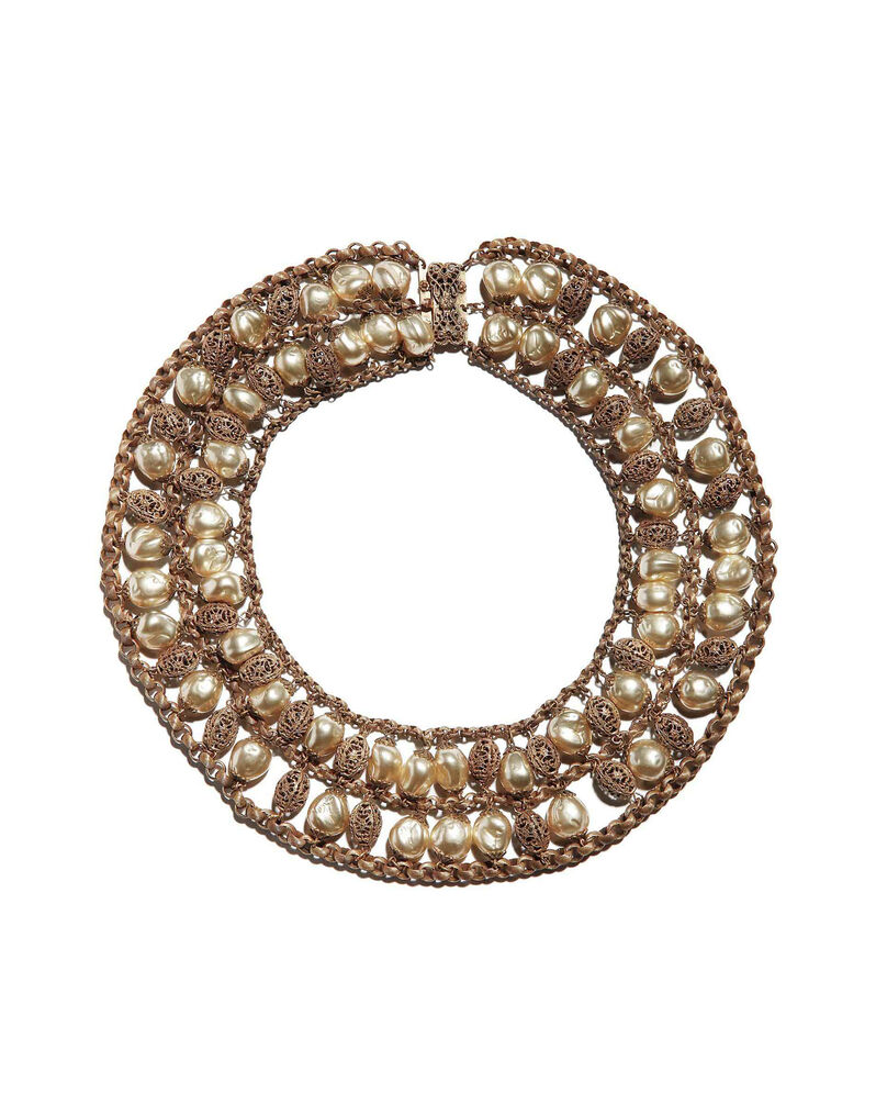 Miriam Haskell filigree necklace designed by Frank Hess, c. 1950