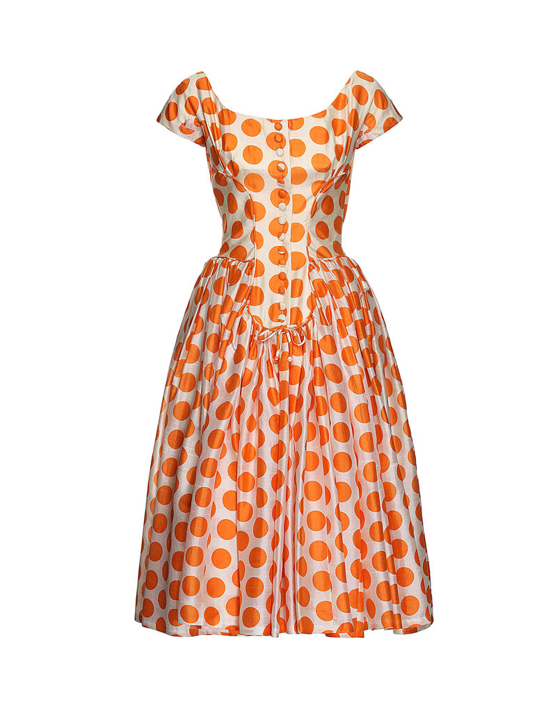 Suzy Perette dot dress 1950s, size 40
