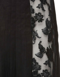 Barocco plisse skirt with lace, 1980s