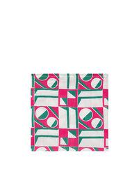 Geometrico Rosa Large Napkins Set of 6 (45x45)