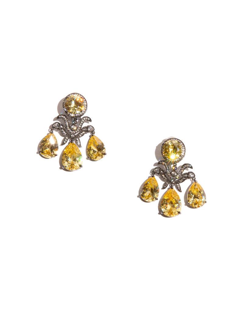 Kenneth Jay Lane pinwheel earrings, 2010s