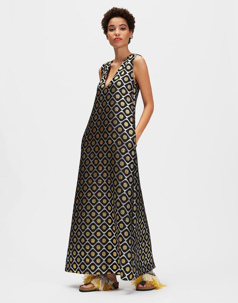 Cocktail Dress - Pomodorini Oro in Brocade