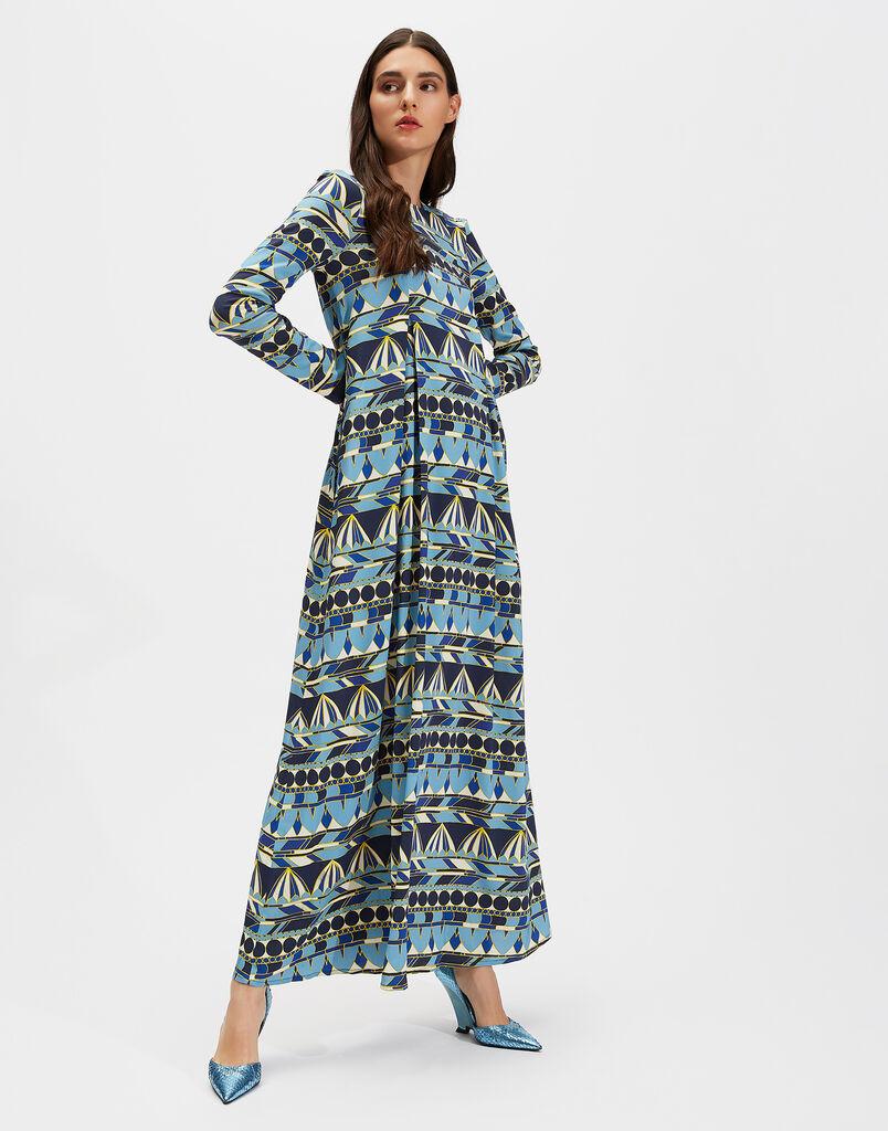 Umbrellas Blu Trapezio Dress