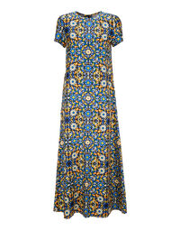 Swing Dress - Confetti Blu in Silk