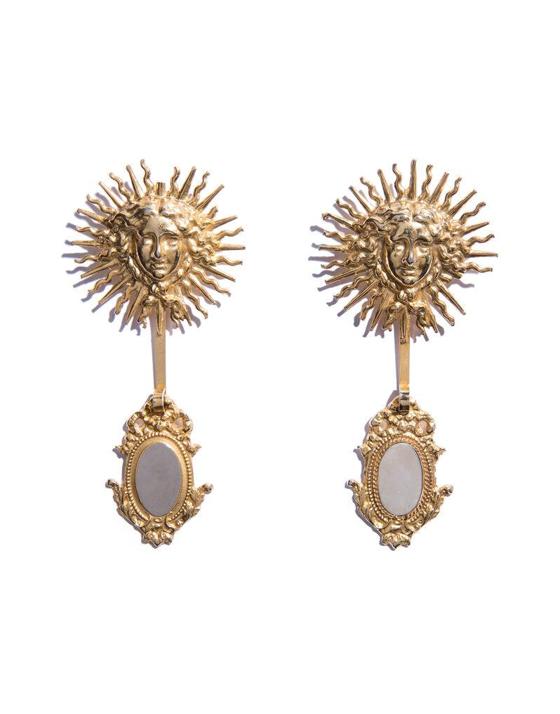Ugo Correani sun and mirror pins, 1980s