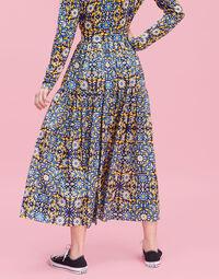 Oscar Skirt - Confetti Blu in Cotton Voile