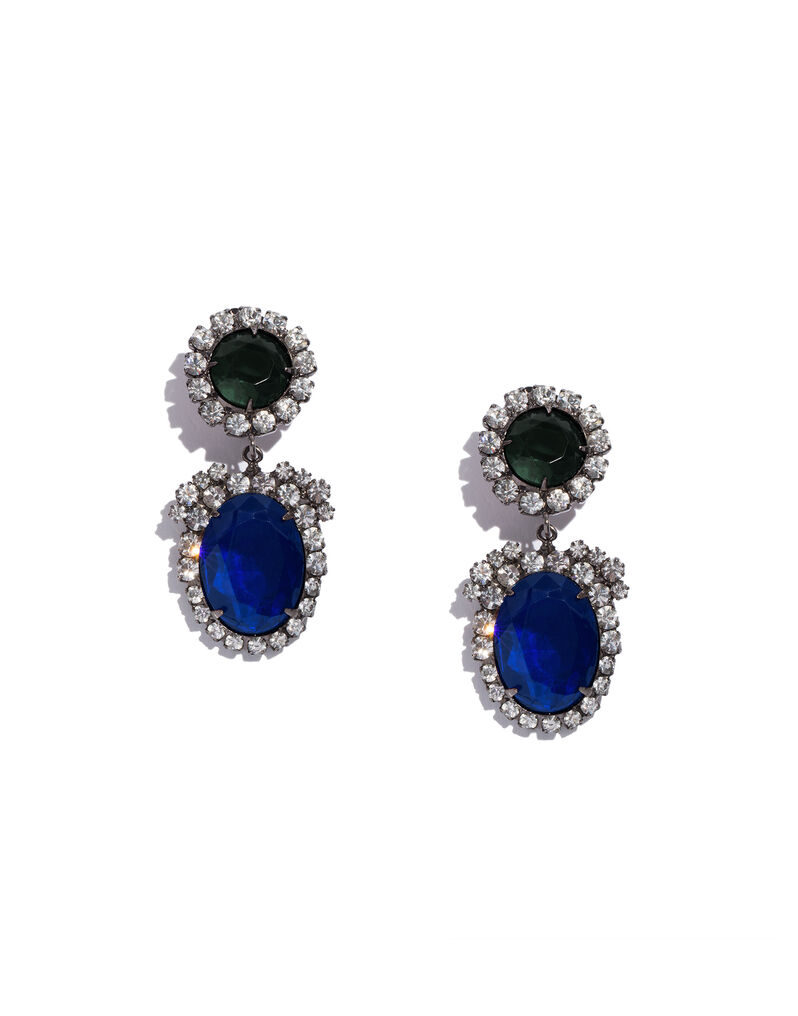 Marie Antoinette-style Kenneth Jay Lane pendant earrings, 2000s