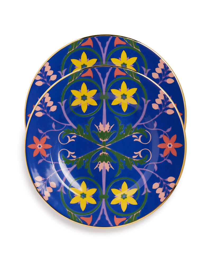 Dinner Plates Set of 2 in Stella Alpina Blue