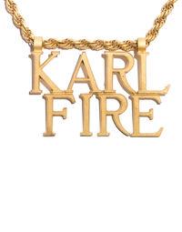 Karl Lagerfeld 'Karl Fire' necklace by Ugo Correani, 1980s