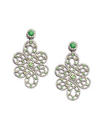 Kenneth Jay Lane arabesque earrings, 2000s
