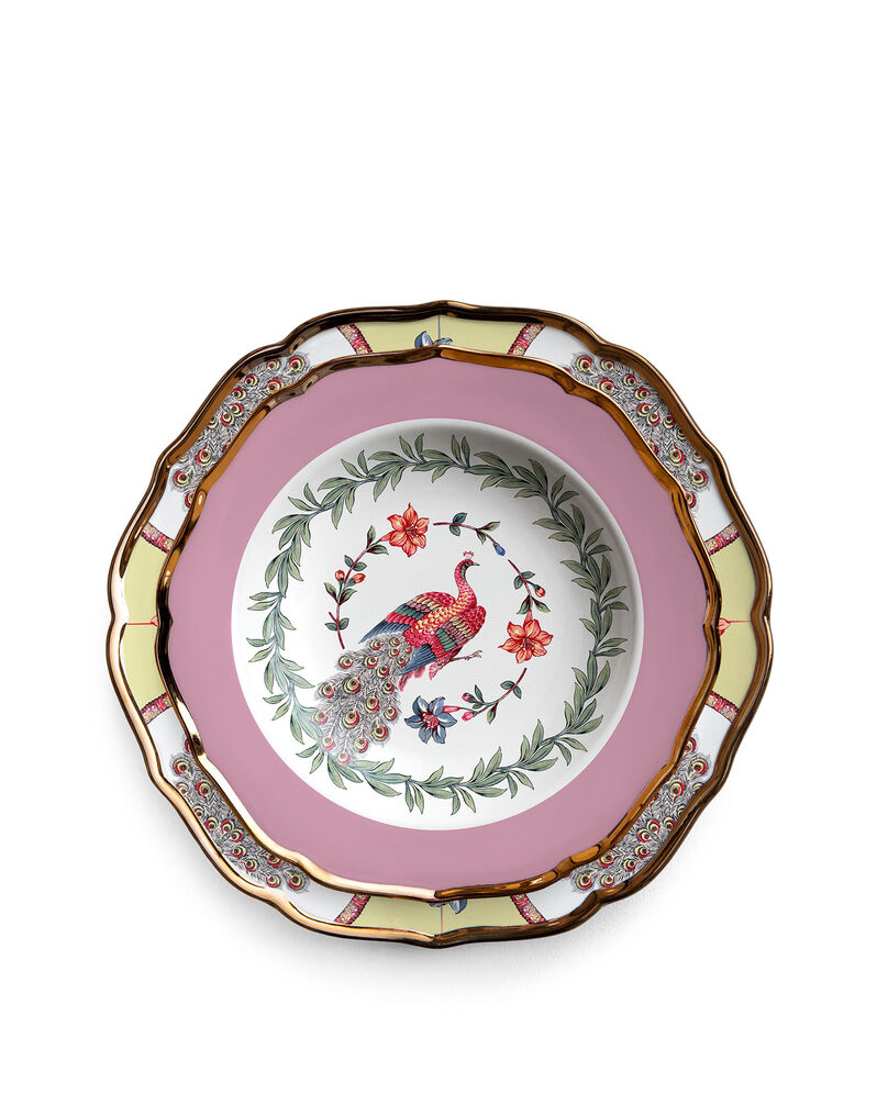 Pavone Soup and Dinner Plates Set of 2