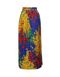 Floral wrap-around skirt with shawl 1970s, one size