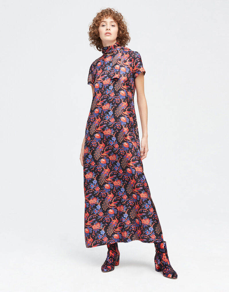 Pavone Nero Swing Dress
