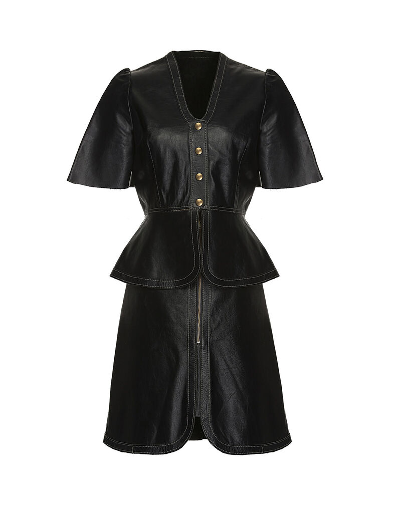Leather top and skirt set 1960s, size 42