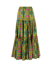 Big Skirt - Stella Alpina Verde in Cotton