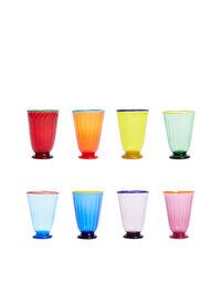 Rainbow Glasses set of 8