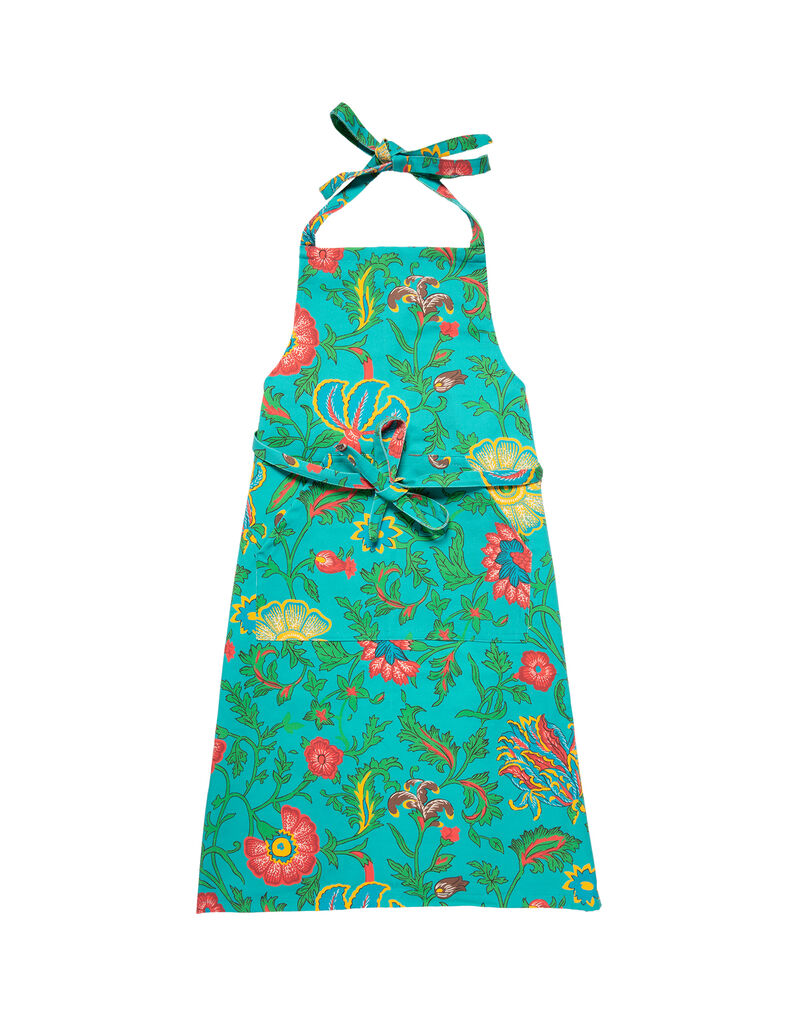 Aprons in Dragon Flower Turchese