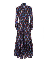 Bellini Dress - Can Can Blu in Cotton Voile