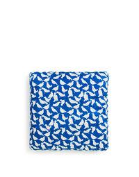 Uccellini Blu Cuscino 48x48
