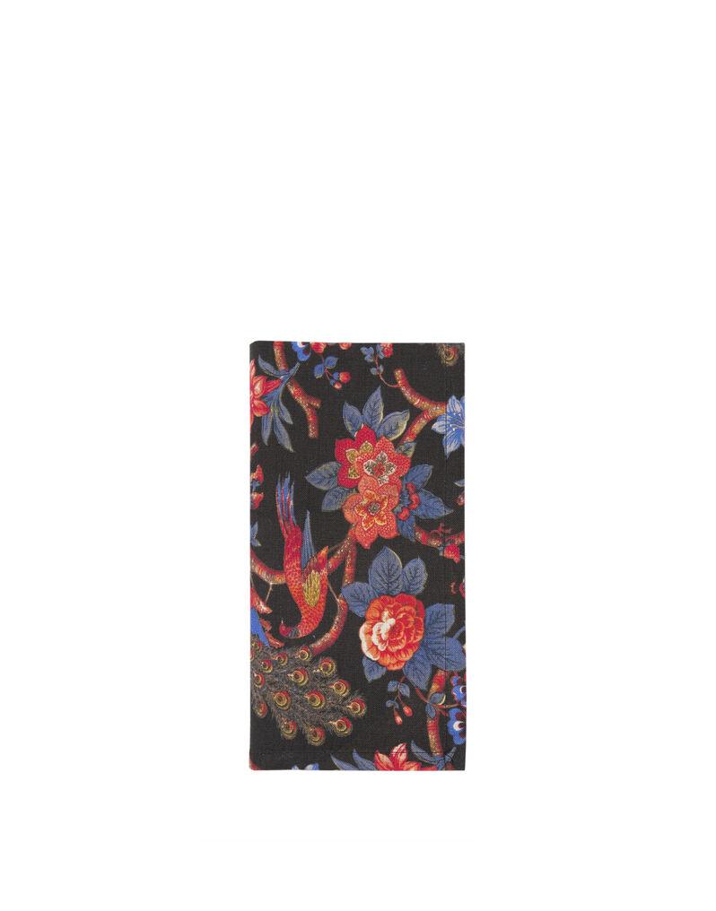 Pavone Nero Large Napkins Set of 6 (45x45)