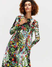 Trapezio Dress in Holly Hock