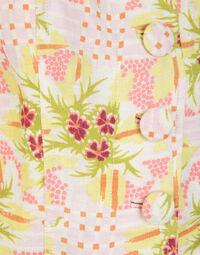 Printed linen flower set 1960s, size 42