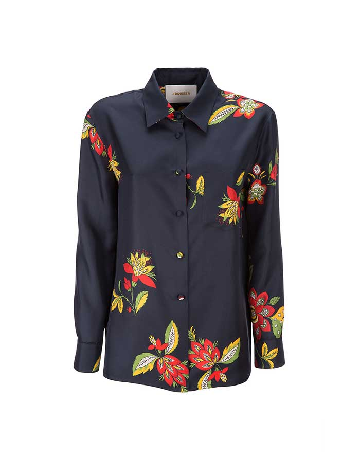 Boy Shirt - Space Flower in Silk