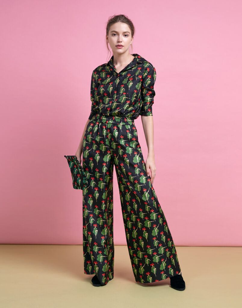 Palazzo Pants Can Can in Silk