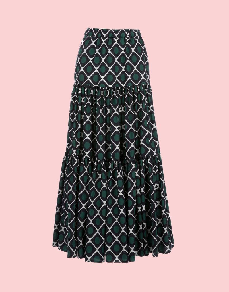 Olive Big Skirt