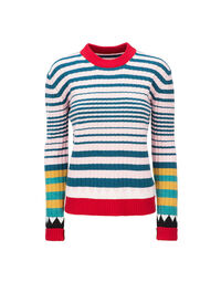 Striped Crew Neck in Rosa Mix 5
