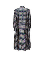 Embroidered Chemisier Dress