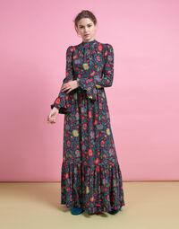 Visconti Dress in Dragonflower Viola