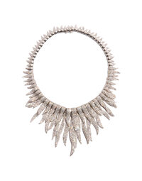 Kenneth Jay Lane double festoon necklace, 2000s