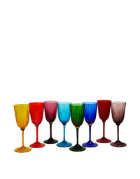 Wine Rainbow Glasses Set Of 8 1