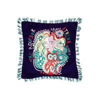 Velvet Embroidered Cushion 1